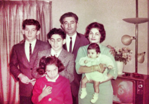 Our family in 1963 L-R   Rusty (Daniel Jr.), Marie, Greg, Daniel Sr., Thelma, Michele