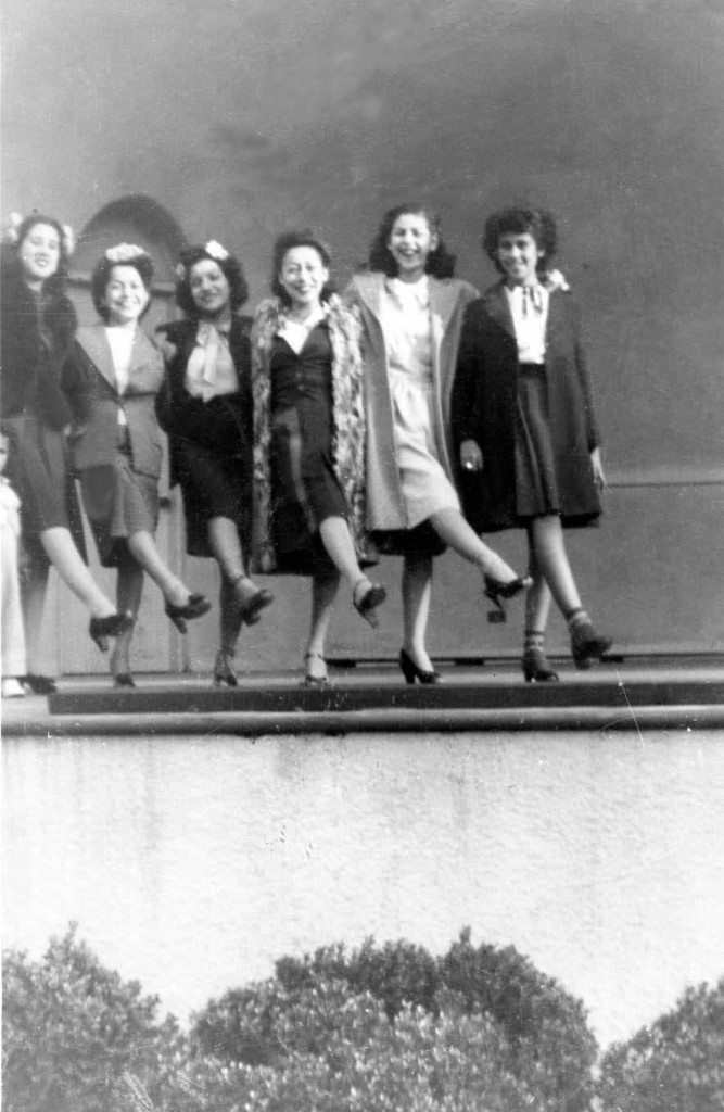 Solano Ave Chorus Line: L-R Gracie, Licha, Teti, Angie, Thelma and Camille