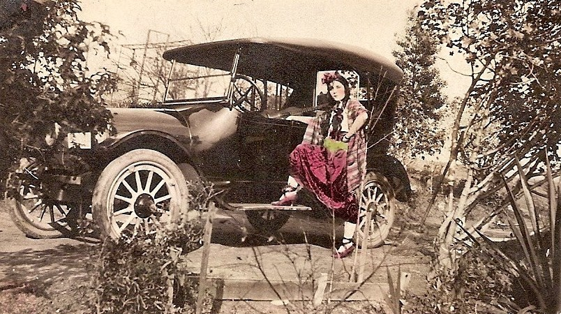Grandmother Maria de Los Angeles Pallares. She is dressed as a Gypsy