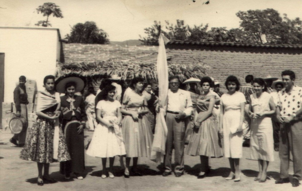 Fiesta Officials Mom and Dad on far right. They also represented Judit who was a Beauty Pageant entrant. Judit is the one on the far left.