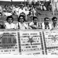 Bullfights in Autlan, L-R Daniel, Thelma, Queta, Dicky, Fred, Camille